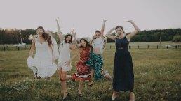 Rustykalne wesele w namiocie na ranczo 16