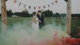 Rustykalne wesele w namiocie na ranczo 6