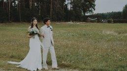 Rustykalne wesele w namiocie na ranczo 8