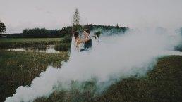 Rustykalne wesele w namiocie na ranczo 13